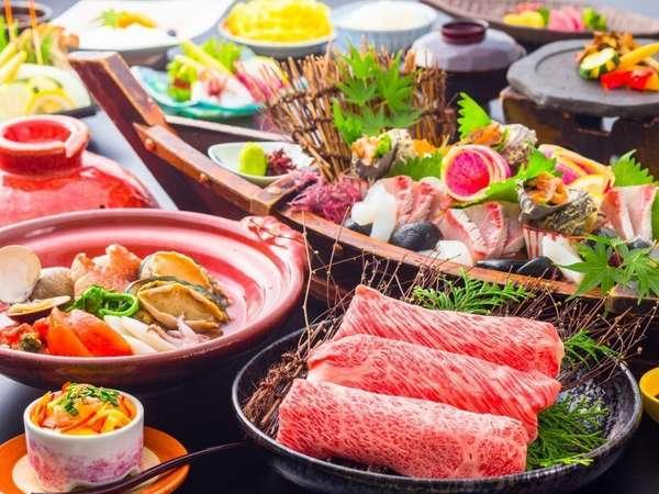 お肉も海鮮も!一度に色々楽しめる贅沢コース
