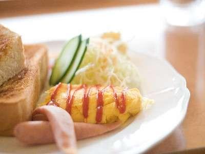 朝食一例(トーストセット)