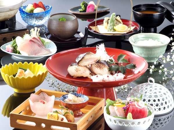 【スタンダード・和懐石】伊豆ならではの新鮮魚介を使用した料理長のこだわり料理 本館レストラン