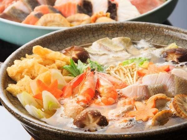 【お部屋食・海鮮鍋】伊豆ならではの磯の香りも楽しむ「海鮮鍋」パーティープラン