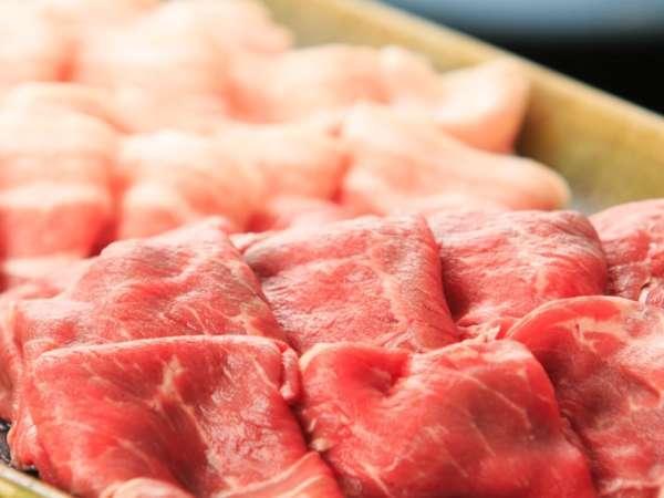 【お部屋食・メガ盛り】お肉450gの大満足セット!すき焼きorしゃぶしゃぶプラン