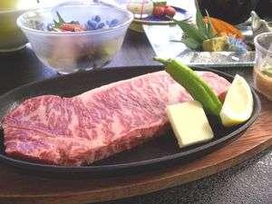 ☆★☆【ステーキ好きにピッタリ】ジューシーな肉汁タップリ豪快に!蔵王牛ステーキ170gと季節の味覚会席