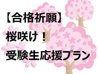 桜咲け!受験生歓迎!安らぎグッズでリラックス(朝食付)〜駅徒歩3分だから安心〜