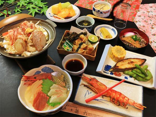 地元の新鮮魚介が楽しめるスタンダードプラン!!
