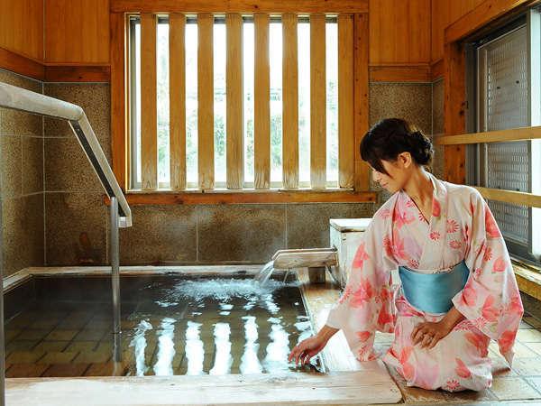 【貸切風呂】「白蓮の湯」水上館で多くの歌を詠んだ女流歌人【柳原白蓮】にちなんだお風呂。