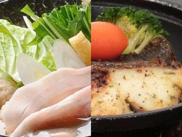 ビタミンたっぷり群馬もち豚沢煮とカレイ陶板焼き