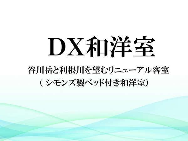 【DX和洋室】谷川岳と利根川を望むリニューアル和洋室(シモンズ製ベッド付き)
