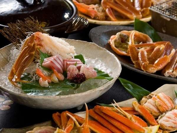 『松風庵』特選活蟹尽くし懐石のお料理イメージ(2名様盛り)。かに尽くし懐石をぜひご堪能下さい。