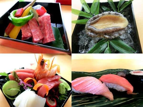量より質ご希望の方へ☆串本の海で育てた本マグロ、熊野牛、鮑付【美味三昧会席】(画像はイメージです)