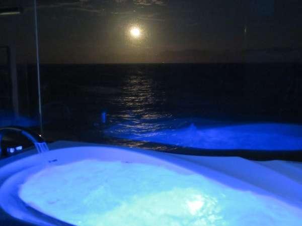 【カップル限定】☆海・二人占め☆客室展望風呂から月の出や日の出を眺め、洋上の入浴気分を味わう♪