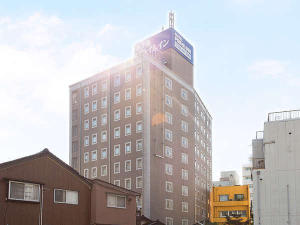富山駅から徒歩3分!駅からのアクセスもバッチリ♪ホテルプライムイン富山の外観です♪