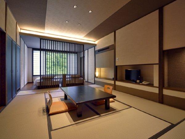 【6F和洋室605号室】美麗に施された内装と、部屋を彩るアートパネルに思わず見惚れる和モダン客室。