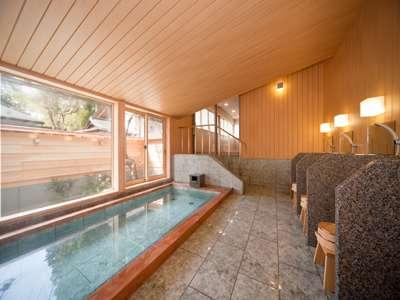 中風呂 坪庭を眺めるお風呂です。