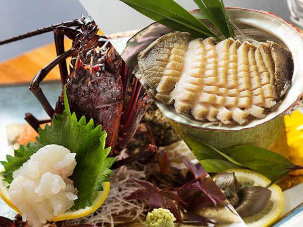 【海の2大響宴-お部屋食】<伊勢海老×アワビ>「どっちかなんて選べない!どちらも欲張りに♪」を実現