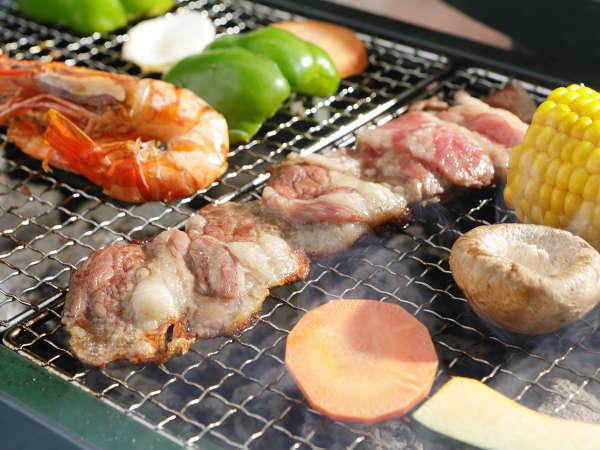 【期間限定バーベキュープラン】夕食は野外バーベキュー場で本格BBQ&ほうとうも楽しめる♪