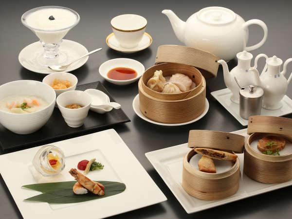 【お夜食&ブランチプラン】遅めの到着にぴったり☆身体に優しい中華粥&点心のお夜食と飛騨牛のブランチ♪