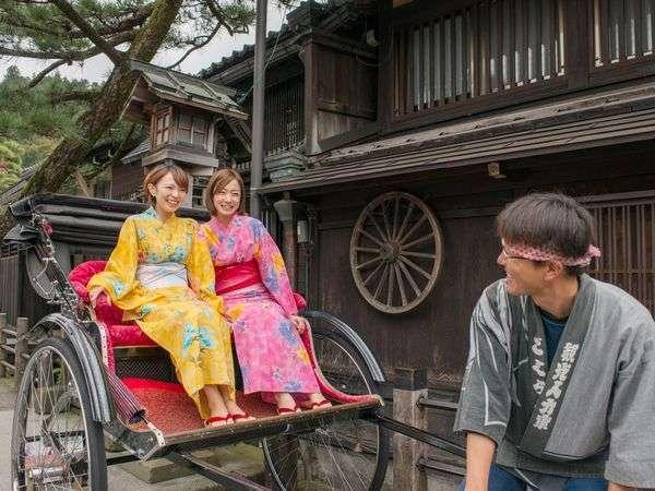 【優雅に散策】人力車&色浴衣☆情緒あふれる城下町の旅♪