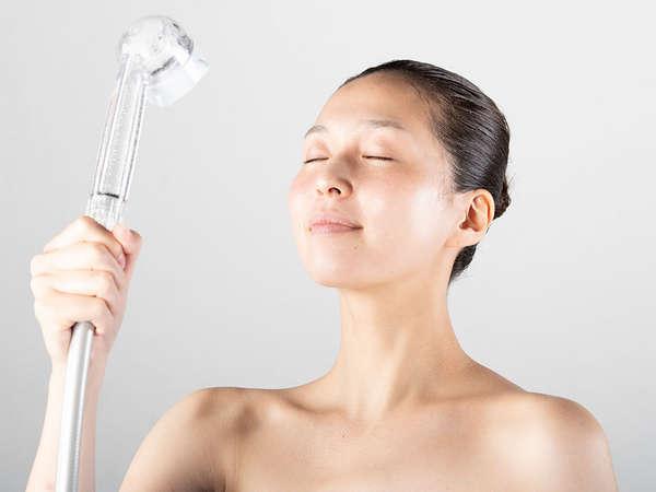 まるで美顔器のようなシャワーヘッド「ミラブル」を一部客室に導入しております。写真はイメージです。