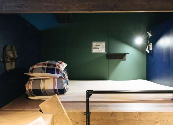 各ベットにはカーテンが付いてますのでゲストハウスが初めての方でも安心してご利用いただけるお部屋です