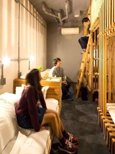 使い方、遊び方、自由自在。グループ&ファミリー ドミトリースタイル6ベッド オーガニック201.5R