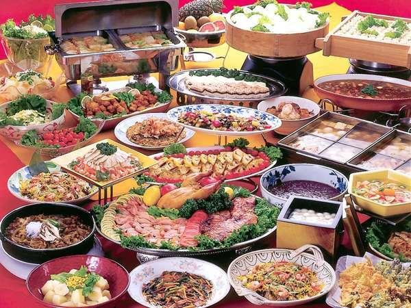 【バイキング・献立例】和洋中、道産食材を中心とした35品が食べ放題!!