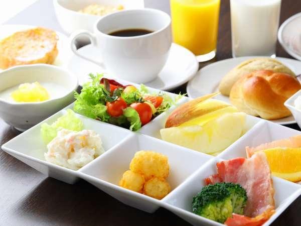 朝食盛付け一例
