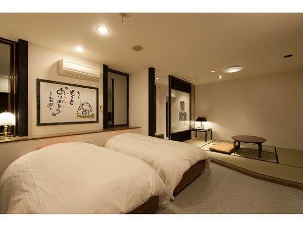 癒しプランのお部屋広々お部屋で当館人気NO1のお部屋です。