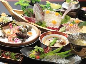 瀬戸内海のプリプリの鯛を贅沢に使った鯛づくし会席