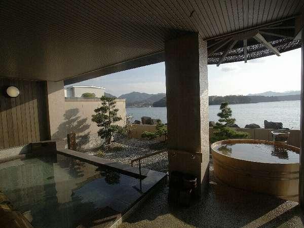■夕日の湯■日本海を望む眺望の露天風呂
