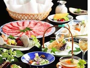 《しゃぶしゃぶ会席》◆厳選牛肉しゃぶしゃぶ&会席セットをお部屋食で