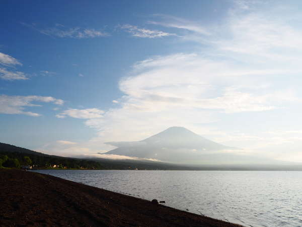 山中湖から見える富士山は絶景です