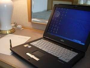 全客室に高速インターネット対応。お部屋でのデスクワークも心配なし。