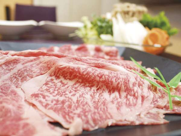 【1泊2食付き】近江牛しゃぶしゃぶ籠膳のご夕食