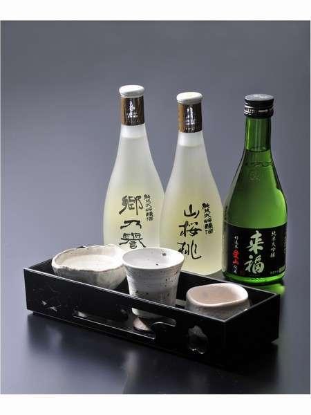 【地酒と地魚】 3種の厳選地酒と地魚を堪能