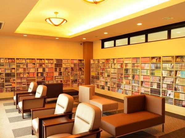 <新設>無料漫画コーナー&ロビー 客室ではすべ店お部屋でWOWOWをご覧いただけます。