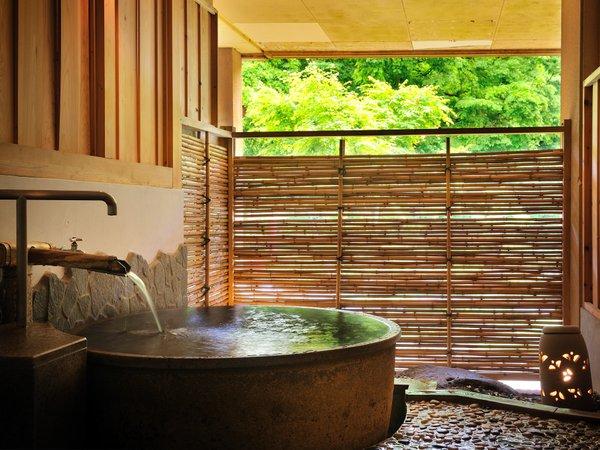 【貸切風呂「ちゃっぷん」】※「内湯」と「半露天」2つの浴槽で温泉をお楽しみ頂けます