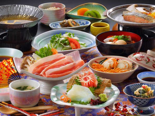 花巻産 白金豚のをメイン料理にした「和膳スタイル」イメージ。(写真は梅膳となります),