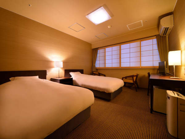 ツインルーム(禁煙) ※景色は楽しめませんが、リーズナブルにご利用いただけるお部屋です。