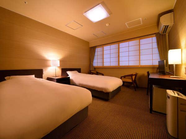 ツインルーム(禁煙) ※景色は楽しめませんが、リーズナブルにご利用いただけるお部屋です.