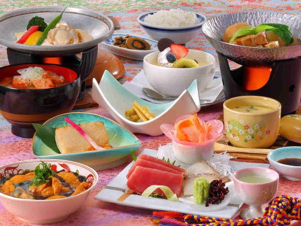 花巻産 白金豚のをメイン料理にした「和膳スタイル」※写真は春期間・竹膳、イメージとなります