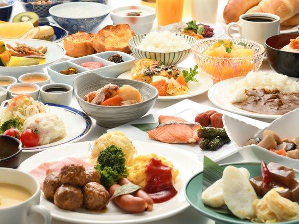 朝食バイキングイメージ※食材にこだわった和洋30種類ものメニューをお楽しみください