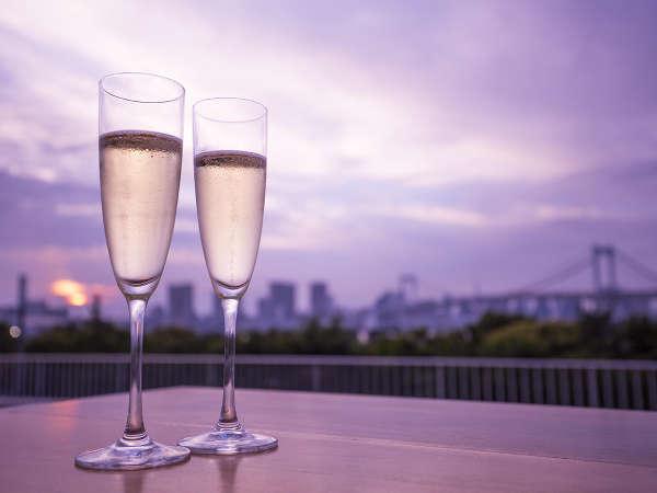 【レインボーブリッジビュー確約&スパークリングワインで乾杯】お台場で過ごす二人の記念日