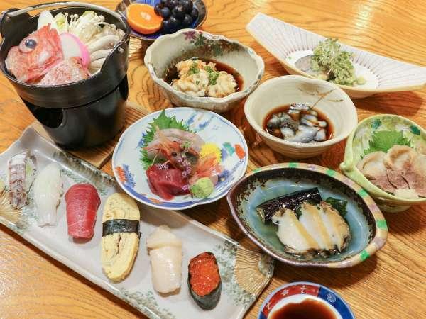 *[ご夕食全体一例]季節の地のもの旬のものを活かした磯料理をご堪能下さい