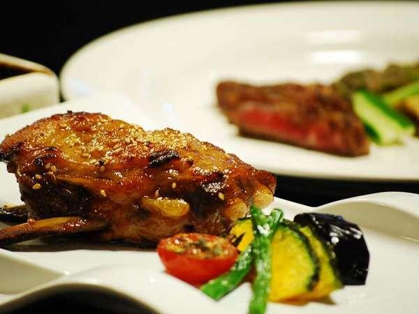 【お肉Aコース】薩摩産♪牛ステーキ&黒豚スペアリブ