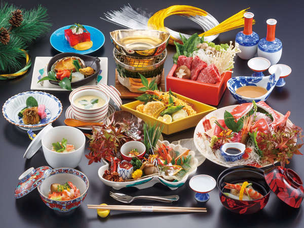 【温泉ゆぽぽで特別な休日を】秋田錦牛しゃぶしゃぶ付き贅沢会席1泊2食スペシャルプラン