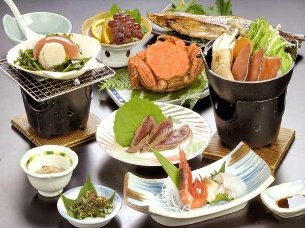 知床三昧膳は北海道の美味しいものがギュっと凝縮されています (調理一例)