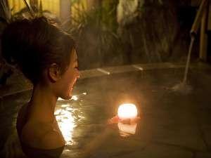 キャンドルを灯してロマンチックに♪「花の湯」
