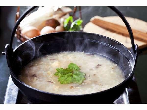 胃や体をやさしく起こしてくれる「きのことふんわりときたまごの雑炊」