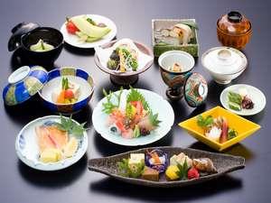 【会席コース一例】獲れたて若狭の魚介類&吟味された新鮮食材をご堪能下さい。