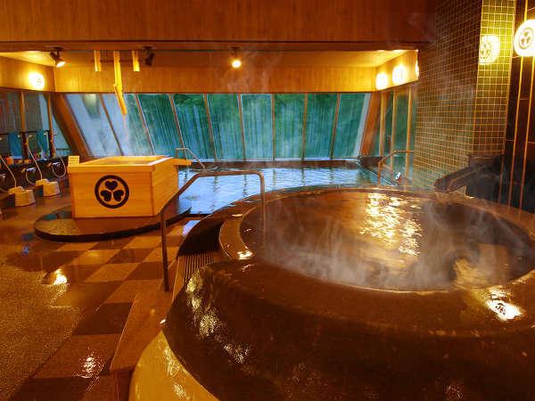 「釜風呂」では薬湯風呂をお楽しみいただけます